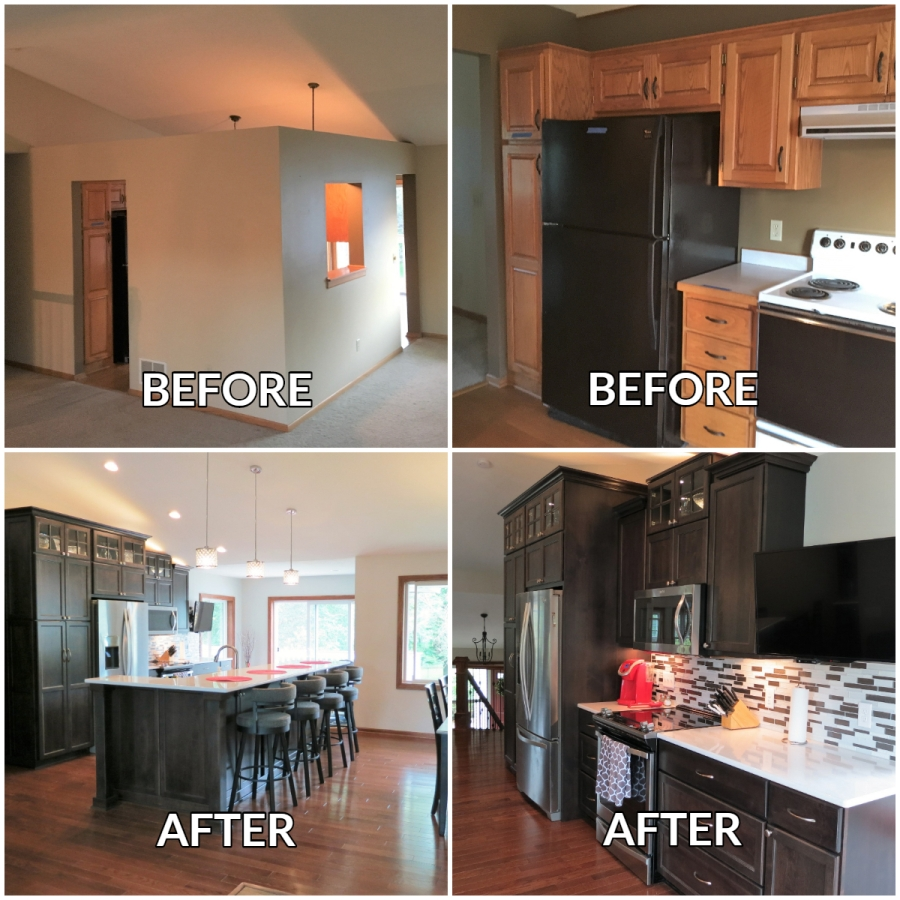 Woodbury Kitchen Redesign - Before and After