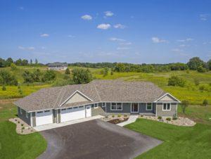 Custom new home built in western Wisconsin