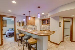 Woodbury MN home renovation wet bar