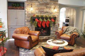 Hudson WI home renovation living room fireplace