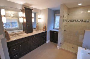 Hudson WI home renovation master bathroom
