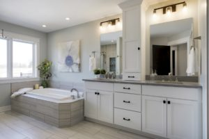 Custom home built in Hudson WI master bathroom