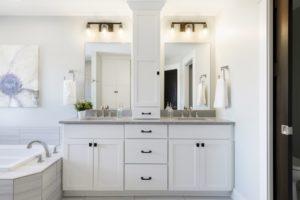 Custom home built in Hudson WI master bathroom