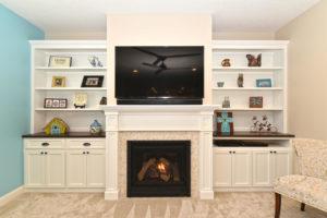Hudson WI fireplace cabinets
