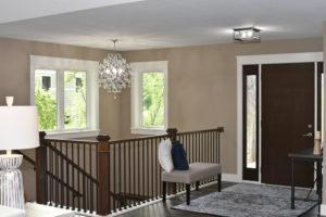 Entryway with custom white trim