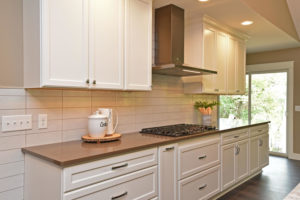 White painted cabinets kitchen perimeter