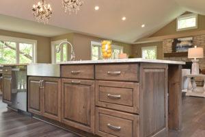 Durasupreme custom cabinetry for kitchen island